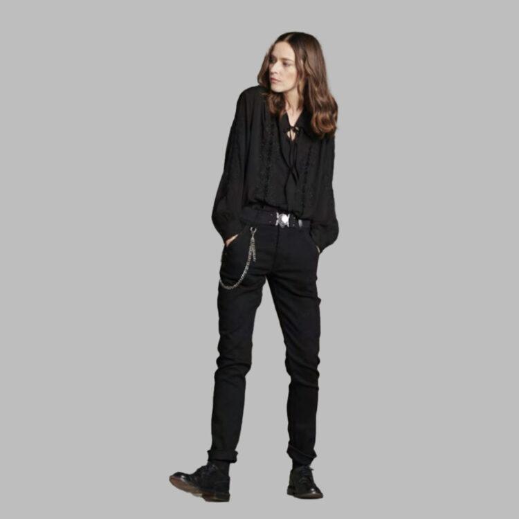 παντελόνι μαύρο- high