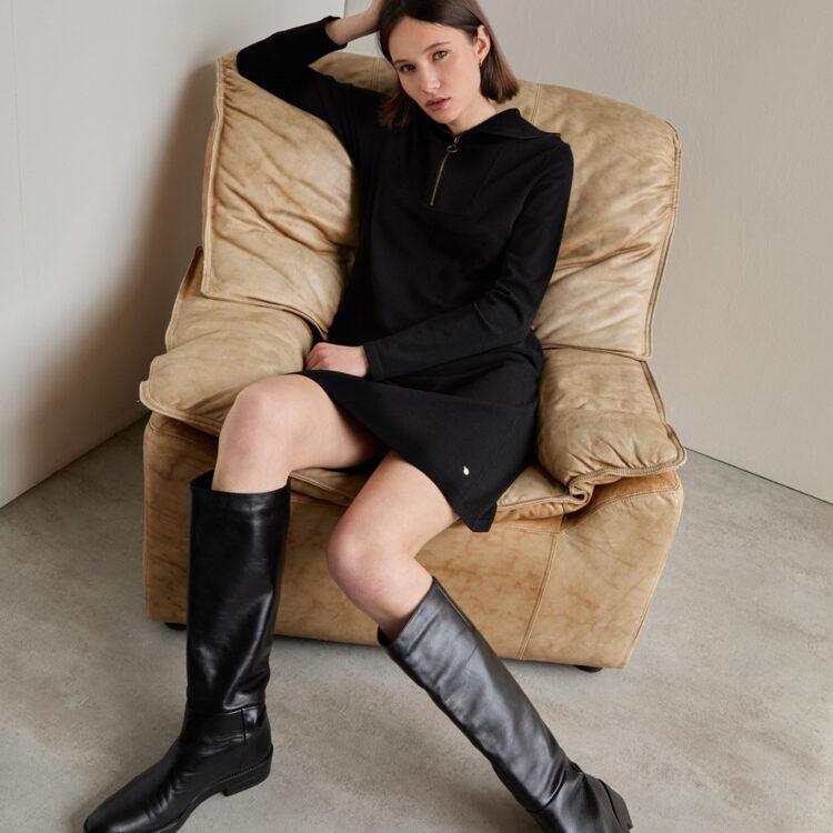 high-collar-dress